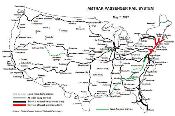 Getting On The Train Gregorus - Amtrak map of routes in us