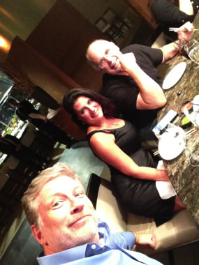 The lovely Grant Williams, brainy Danielle DiMartino Booth, and one of the  Paddock brothers in Las Vegas.