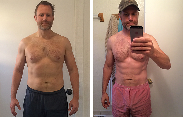Adam's weight loss before and after pictures