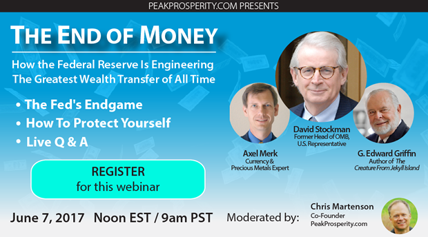 The End Of Money webinar ad unit