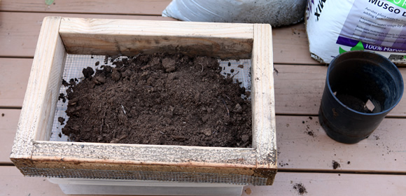 Add the bigger stuff to your compost pile or use it at the bottom of large growing flats as filler.